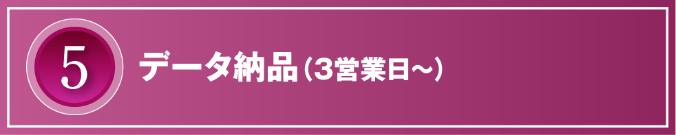5.データ納品(3営業日~)